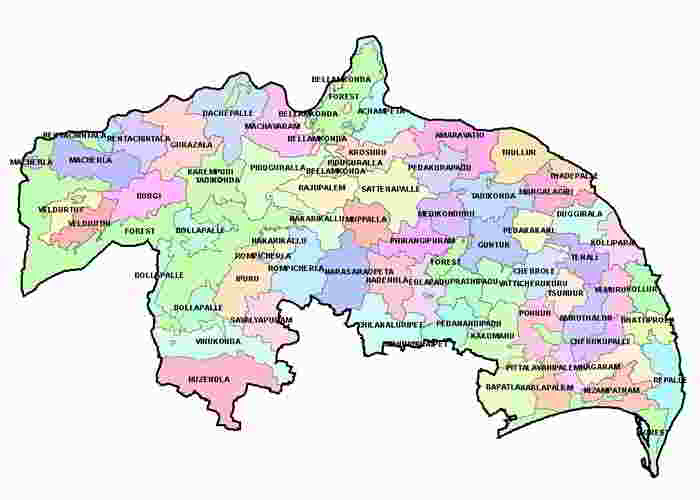 Guntur District Map