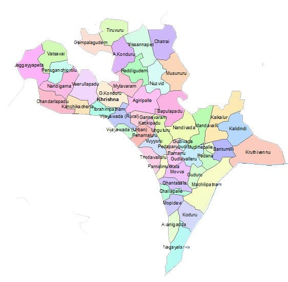 Krishna District Map