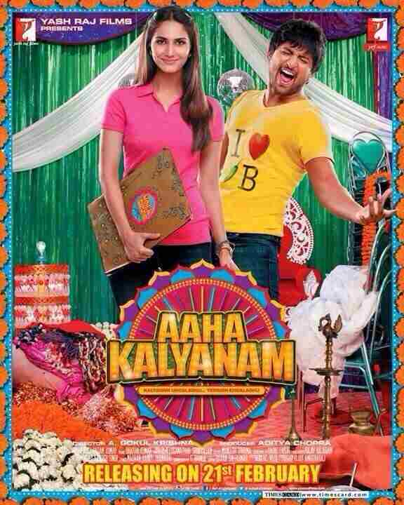 Watch 2014 Tamil Movies Online – Nani and Vaani Kapoor Starring Aaha Kalyanam Full Movie Download in HD, FHD, Blueray